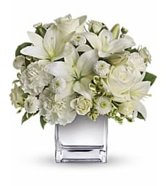 White flowers and silver bouquet