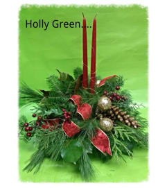 Christmas Holly Green