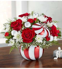 RED AND WHITE ORNAMENT