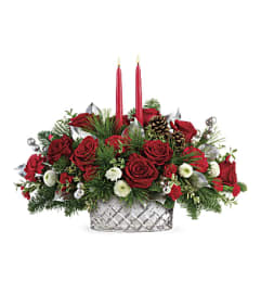Teleflora's Merry Mercury Christmas arrangement