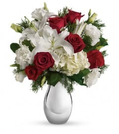 White and Silver Noel Bouquet