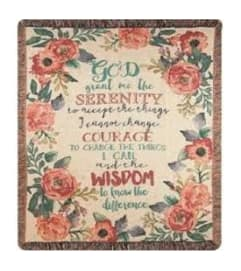 Serenity Prayer Throw 2
