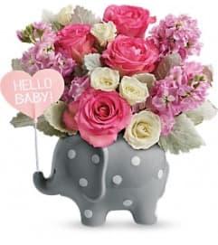 Teleflora Hello Sweet Baby - Pink