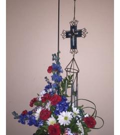 Windchime memorial arrangement