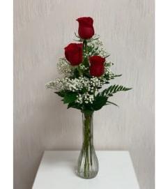 Bud Vase-Red Roses