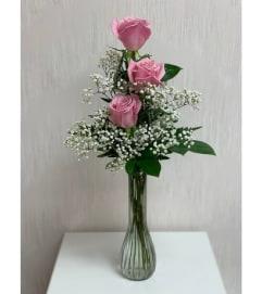 Bud Vase-Pink Rose