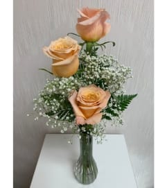 Bud Vase-Peach Rose