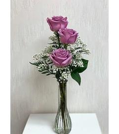 Bud Vase-Lavender Roses