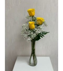 Bud Vase-Yellow Roses