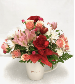 Valentine Love Mug Bouquet