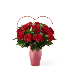 The FTD Cupid's Heart™ Red Rose Bouquet