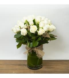 36 Premium White Roses