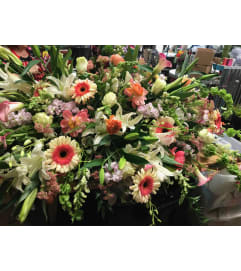 Peaceful Posies Casket Spray