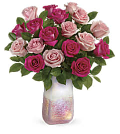 Rose Quartz Kisses Bouquet by Teleflora