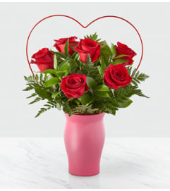 The Cupid's Heart Red Rose Bouquet