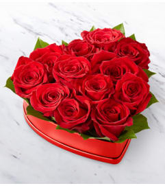 The FTD Lovely Red Rose HeartBox