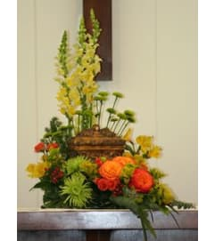 TRAY OFCOLORFUL FLOWERS FOR ANY URN