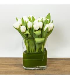 Tulips in Custom Glass