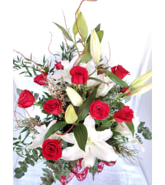 Valentine Roses and Lily Special