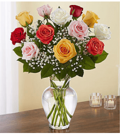 ELEGANT MIXED COLOR ROSES
