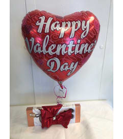 Box of Chocolates and Mylar Balloon