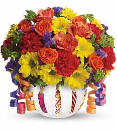 Teleflora's Brilliant Birthday Blooms Bouquet