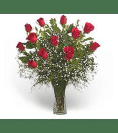 Classic Elegance Dozen Premium Long Stem Red Roses