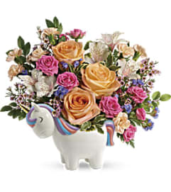 Magical Garden Unicorn by Teleflora Flowers