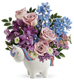 Enchanting Pastels Unicorn by Teleflora Flowers