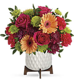 Mid Mod Brights Arrangement by Teleflora