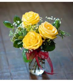 Short Stemmed Yellow Roses