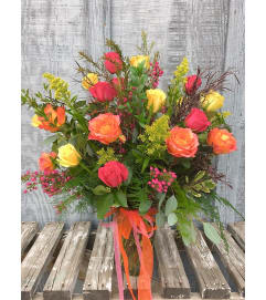 2 Dozen Mixed Roses & Filler Flowers