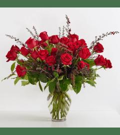 Double Dozen Red Roses
