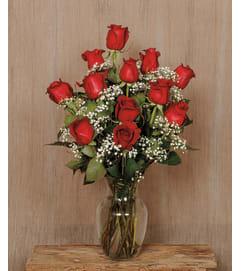 1 Dozen Long Stem Roses