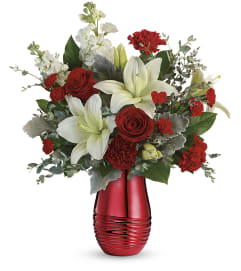 Teleflora Radiantly Rouge Bouquet by tcg