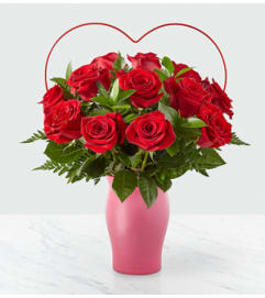FTD Cupid's Heart Red Rose Bouquet