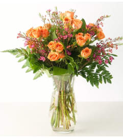 Spray Roses-Orange