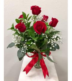 Classic 1/2 Dozen Valentine's Roses