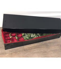 One Dozen Roses in Elegant Box