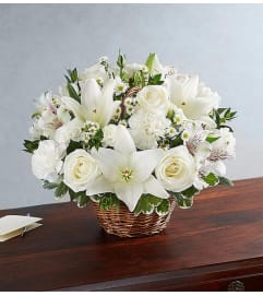 Peace and Prayers Basket- All White