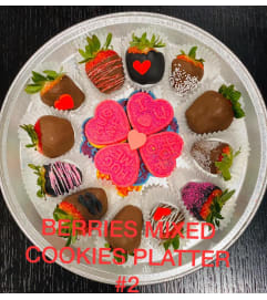 12Ct BERRIES MIX COOKIES PLATTER