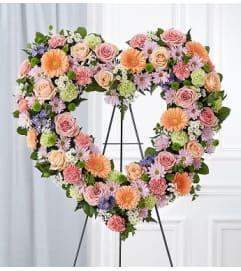 Open Heart Wreath Pastel