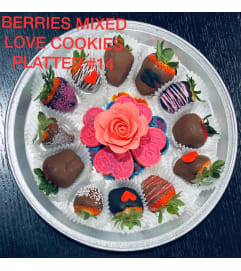 12Ct BERRIES MIX LOVE COOKIES PLATTER