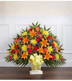 Funeral Floor Basket- Multi-Color
