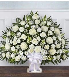Funeral Floor Basket- All White