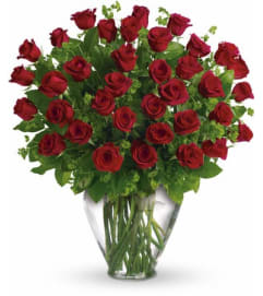 Three Dozen Red Roses Arranged