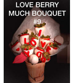 12Ct LOVE BERRY MUCH BOUQUET