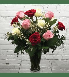 1 Dozen Roses-Sweetheart Mix