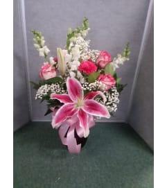 Lilly & Roses Vase