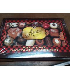 Asher's Chocolate Asst Milk & Dark 8 oz